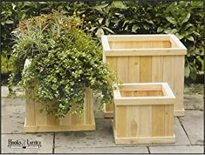 English Garden Cedar Deck Planter 20 inch Square x 16 inch H