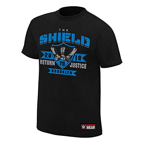 WWE The Shield Return to Justice Brooklyn Special Edition T-Shirt Black Small by WWE Authentic Wear
