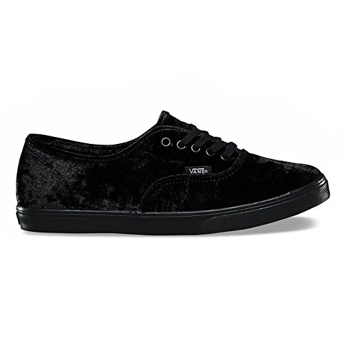 Vans Authentic Lo Pro Velvet Skate Shoes-Black Velvet-10.5-Women/9-Men by Vans
