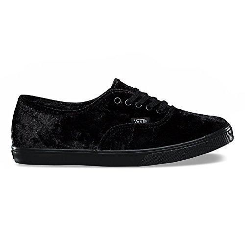 Velvet Suede Footwear - Vans Authentic Lo Pro Velvet Skate Shoes-Black Velvet-10-Women/8.5-Men
