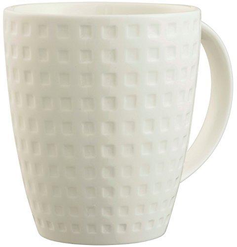 (Belleek Pottery Grafton Mugs (Set of 4), Ceramic, White, 9 x 9 x 10 cm)