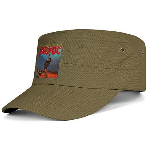 Vintage Washed Cotton Army Hats Brim Flat Top Strapback Hat for Men