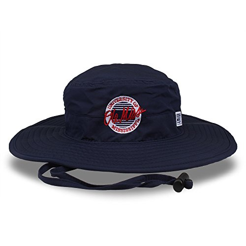 The Game NCAA Mississippi Old Miss Rebels Ultra Lite Boonie, One Size, Dark Navy