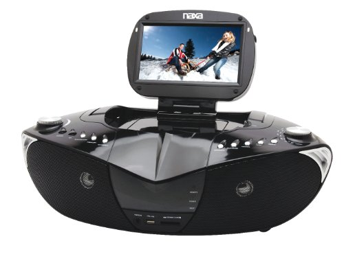 Naxa NDL-400 7-Inch TFT LCD Display Portable DVD Player with Digital TV TUNER, AM/FM Stereo Radio, USB Input and SD/MMC Card Slots
