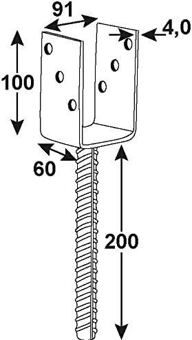 CONNEX HV4230 Post supp Shoe U-shape101x400x60x4