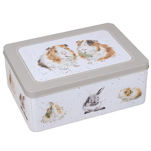 Wrendale Designs - The Country Kitchen Collection - Rectangular Tin Guinea Pigs Design