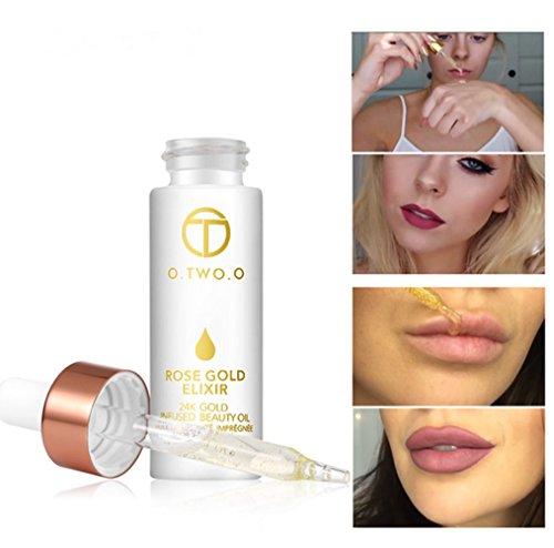 24k Rose Gold Elixir Skin Make Up Oil For Face Essential Oil
