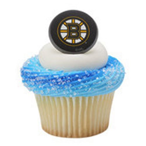Boston Bruins Cupcake Rings 12 Count ()