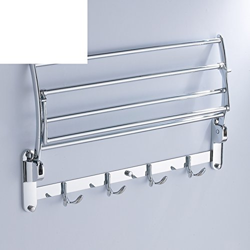 outlet Stainless steel bath Towel rack/Can be folded bathroom Towel rack/ double hook bathroom-A