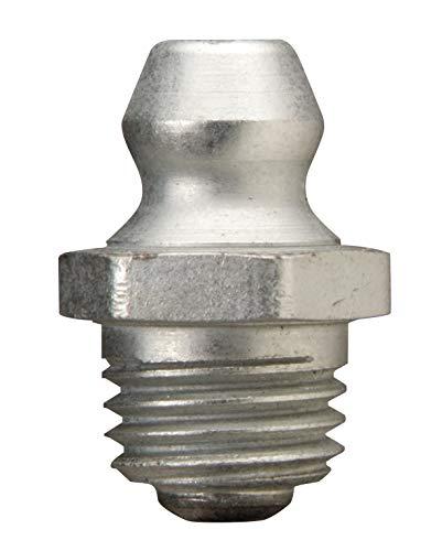 Alemite 2103 Metric Fitting, Straight, 8 mm x 1 mm (Pitch) Taper Metric Thread, 5/8