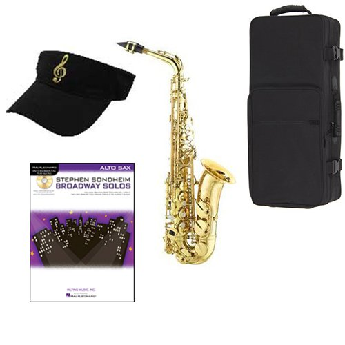 Broadway Solos Saxophone Pack - Includes Alto Sax w/Case & Accessories, Broadway Solos Play Along Book
