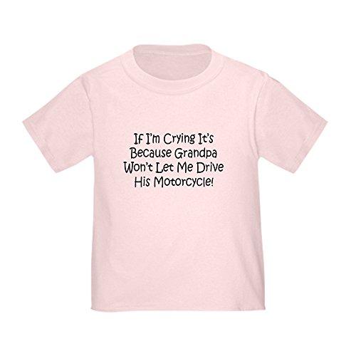 CafePress - Drive My Grandpas Motorcycle Toddler T-Shir - Cute Toddler T-Shirt, 100% Cotton Pink