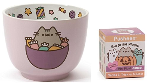Large Pusheen Candy Bowl bundle with Halloween Blind Box Series 4 -