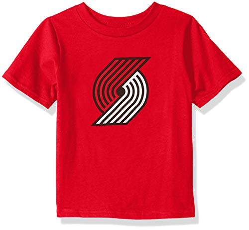 ids & Youth Boys Portland Trail Blazers Primary Logo Short Sleeve Basic Tee, Red, Youth Medium(10-12) ()