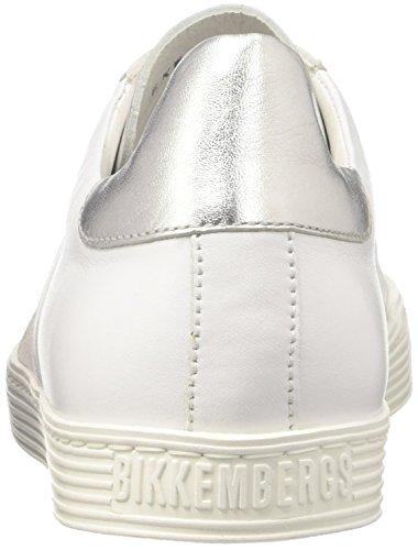 Bikkembergs Damen Words 889 Sneaker Bianco (bianco / Argento)