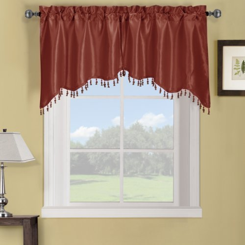 Elegance Solid Rod Pocket Window Treatment- Panels, Valan...