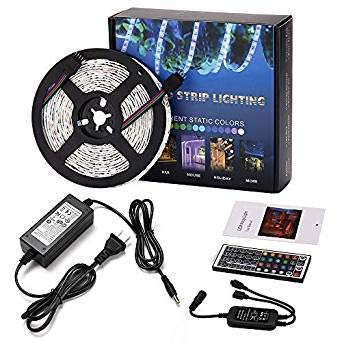 LED Strip Lights with Remote Waterproof RGBW Rope Light 164feet 300leds 5050SMD Color Changing Full Kit