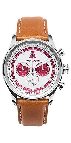 Men's Alabama Crimson Tide Heritage Collection Chronograph Leather Strap Watch
