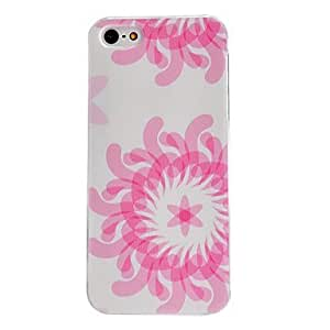 LCJ Pink Chrysanthemum Pattern PC Hard Case with Transparent Frame for iPhone 5/5S by ruishername