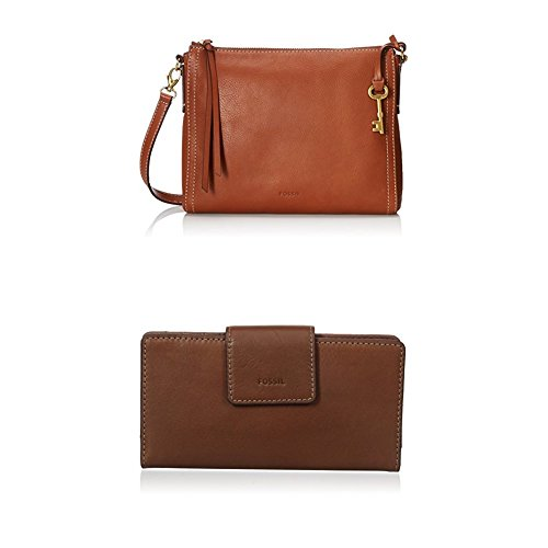 Fossil Emma E/W Crossbody with Emma Tab Wallet Rfid, Brown by Fossil