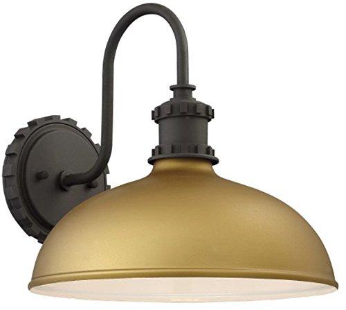 Minka Lavery Outdoor Wall Light 71251-663 Escudilla Exterior Wall Lantern, 1-Light 100 Watts, Painted Honey Gold
