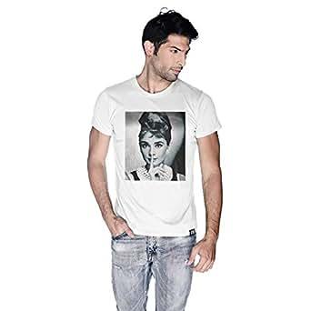 Creo Audrey Hepburn T-Shirt For Men - S, White