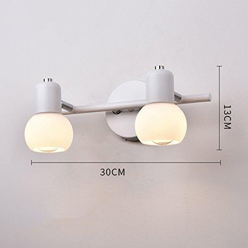&Badezimmerbeleuchtung LED Spiegel Scheinwerfer, Kommode Schmink Spiegelschrank Spiegel Beleuchtung Badezimmer WC Wandleuchte Licht (Farbe   Weiß-30  13cm)