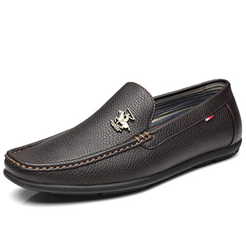 Comfortable Slip On for Men 1 Casual Club Driving brown Edwin Driving Men's Hills Loafers Moccasins Beverly Polo Shoes RwqHYz