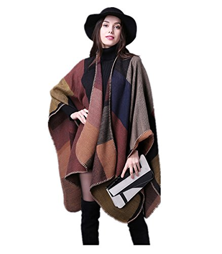 (Women Poncho Fashion Wrap Shawl Scarf Office Blanket Infinity Pashmina Cape Cardigans for Wife Girl Gift )