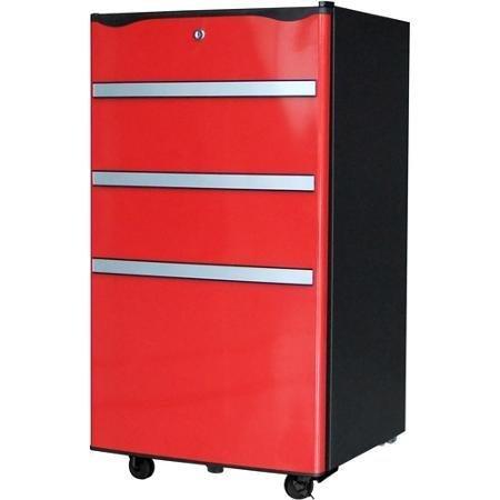 Igloo 3.2 cu ft Toolbox Refrigerator with Locking Wheels,...