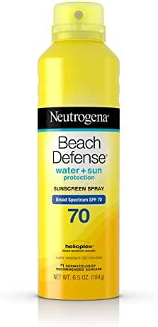 Neutrogena Beach Defense Body Spray Sunscreen Broad Spectrum SPF 70, 6.5 Oz