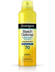 Neutrogena Beach Defense Body Spray Sunscreen Broad Spectrum SPF 70, 6.5 Oz