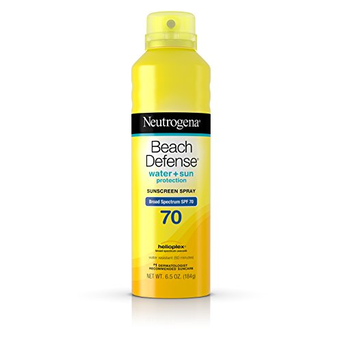 Neutrogena Beach Defense Body Spray Sunscreen Broad Spectrum Spf 70, 6.5 Oz.