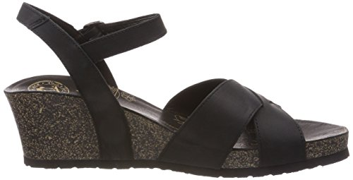 Panama Jack Women's Vika Basics Open Toe Sandals Black (Black ) qvNyX