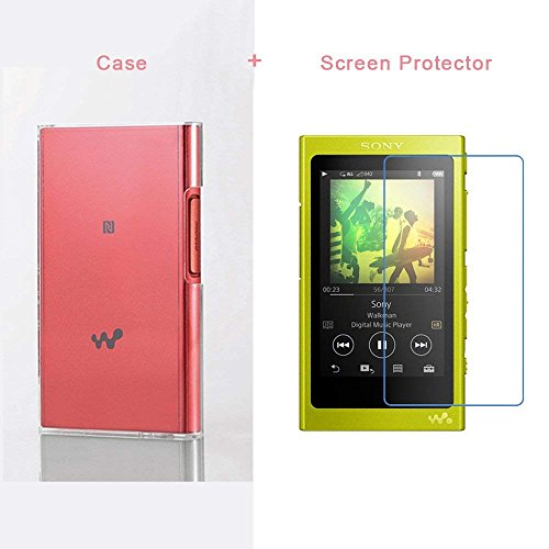 X-LIVE PC Skin Clear Case Cover for Sony NW-A35 A45 47 A37HN Player + Screen Protector (Clear)