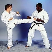 "Medium Weight Karate Uniform - White (Elastic Drawstring) Size 0 (4'6""/85 lbs. Child Size 12-14) 1 packs"