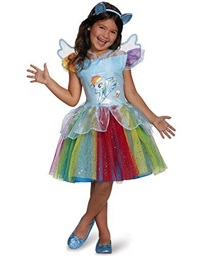 Rainbow Dash Tutu Deluxe My Little Pony Costume, X-Small/3T-4T ()