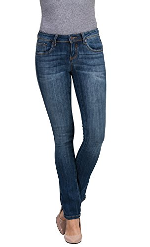 Women's Juniors Basic Legendary Stretch Bootcut Denim Jeans (13, - Jeans Denim Blue Bootcut