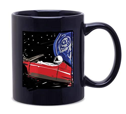 Tesla SpaceX starman Sketchpad Roadster In Space Mug (Black)