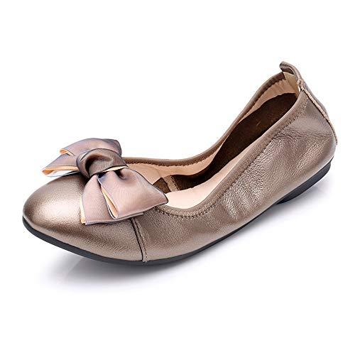 UE de Cuero Cuero Zapatos Arco Zapatos Suave Parte Viaje Planos FLYRCX portátiles 38 de 37 de Inferior de Zapatos Zapatos de de colapsables del del Maternidad la EU los Maternidad qxwpwvt