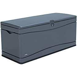 Lifetime 60298 Heavy Duty Outdoor Storage Deck Box, 130 Gallon, Gray