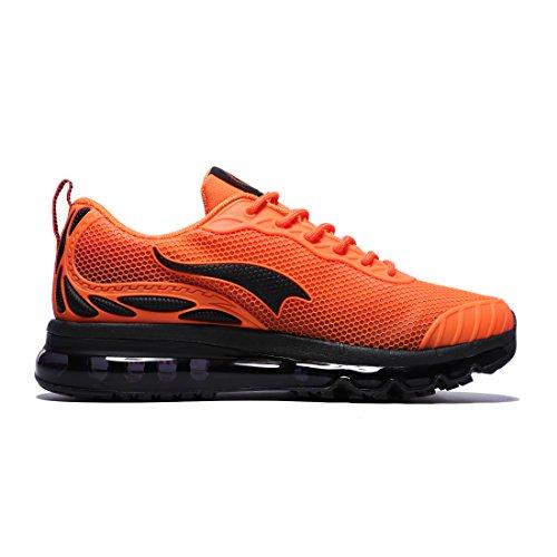 OneMix Herren Sneaker Low-Tops Mesh Laufschuhe Mens Running Shoes Orange
