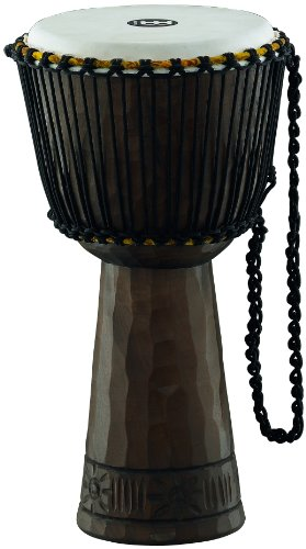 Meinl Percussion PROADJ1-L Professional 12-Inch African Style Rope Tuned Mahogany Djembe with Goat Skin Head, Traditional by Meinl Percussion