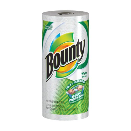 Bounty Paper Towels, White, Regular Roll (Pack of 30) ()