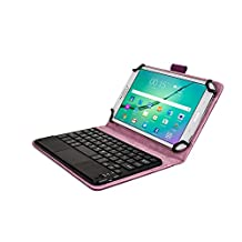 Kobo Arc 7, Arc 7 HD keyboard case, COOPER TOUCHPAD EXECUTIVE 2-in-1 Wireless Bluetooth Keyboard Mouse Leather Travel Cases Cover Holder Folio Portfolio + Stand Kobo Arc 7 HD, Arc 7 (Purple)