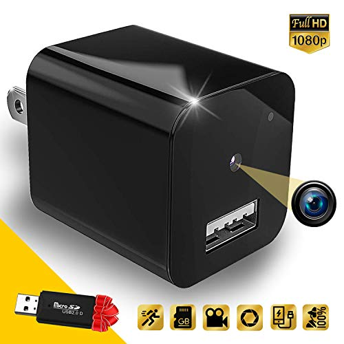 Hidden Camera - Spy Camera Charger - Nanny Cam Home Security - Motion Detection Mini Spy Camera Full HD 1080P Spy Camera Supports 32gb microSD Card - No Wi-Fi Needed by Cigplanet