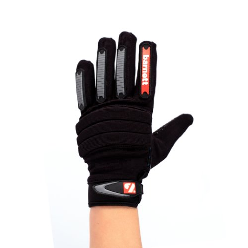 FKG-02 American Football Handschuhe Linebacker fit, schwarz, LB,RB,TE (L)