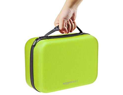 AmazonBasics Travel and Storage Case for Nintendo Switch, Neon Yellow