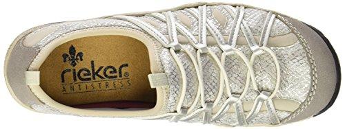 Femme Low Baskets L0563 Rieker Silver Vapor Top 41 Basses Women Beige Ice Gris EqUOwOY
