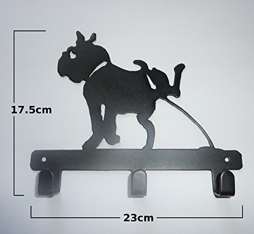 Stylish Metal Wall Mounted Clothes Hook (Dog) Decoration for Children's Bedroom by Unknown